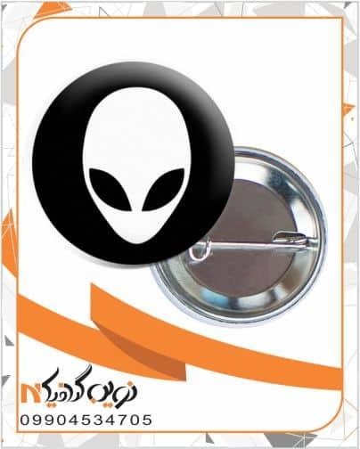 elien pin badge